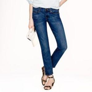 J. Crew Denim Cropped Matchstick Jeans 28